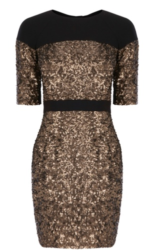 Karen Millen dp165 dress bronze0_LRG